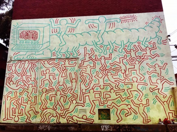 Keith Haring mural in Melbourne