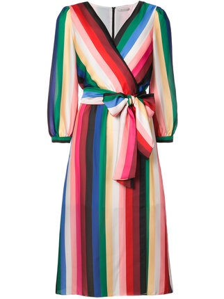 Alice & Olivia Rainbow Wrap Dress