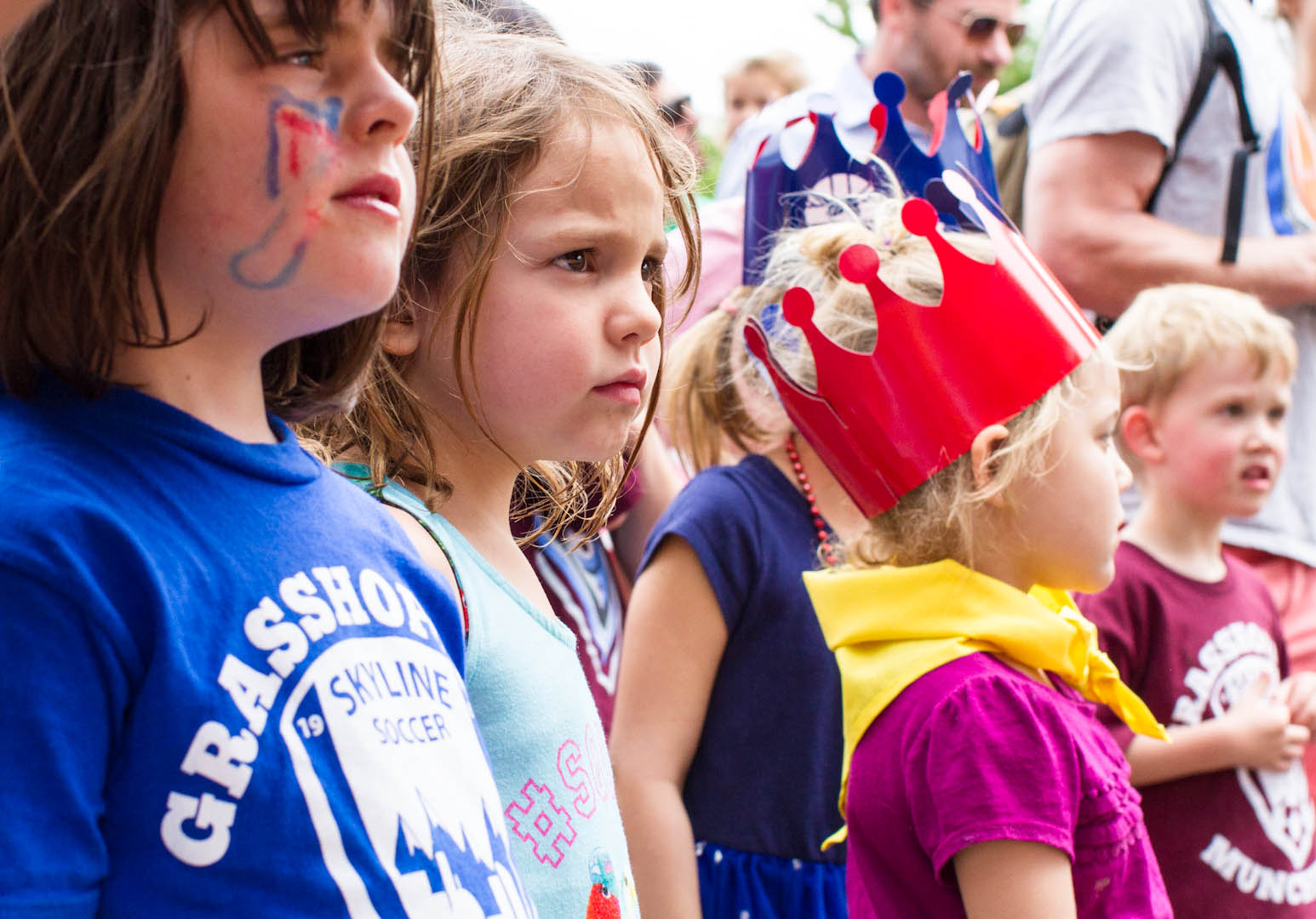 Children can't take their eyes off The Dylan Miles Experience at the Highlands Street Fair