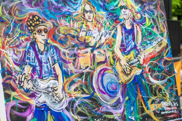 Scramble Campbell painting of The Dylan Miles Experience